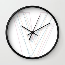Intertwined Strength and Elegance of the Letter V Wall Clock