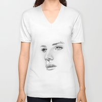 lana V-neck T-shirts featuring Lana by Stephanie Recking