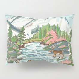 Paint by Number Mountain Medow Pillow Sham