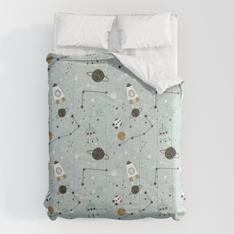 Space ships Animals Prints patterns Comforters