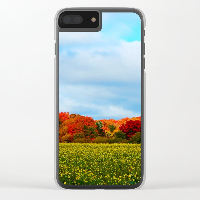 Light hits the Trees Beyond Clear iPhone Case