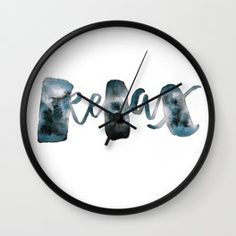 Relax mode Wall Clock
