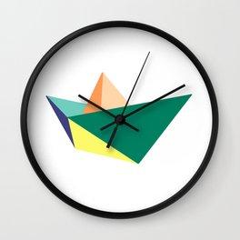 Fune, original colours on white Wall Clock