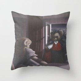 DracuTeddy Throw Pillow