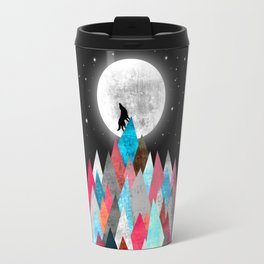 Wolf on Blue Peak Travel Mug