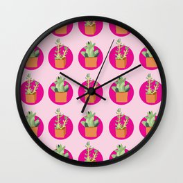 Pop of Succulents Wall Clock
