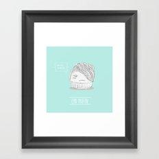 emo muffin Framed Art Print