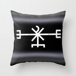 Icelandic Magical stave - Að unni  Throw Pillow