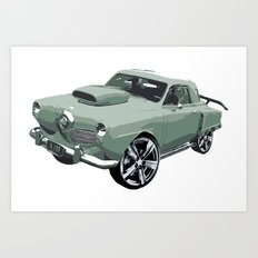 Studebaker in Green Art Print
