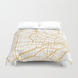 ST. LOUIS MISSOURI CITY STREET MAP ART Duvet Cover