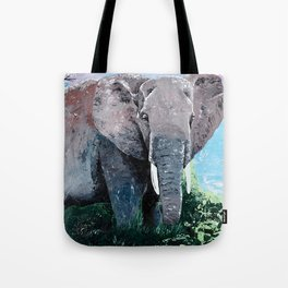 Animal - The big elephant - by LiliFlore Tote Bag