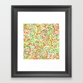 grid in red and yellow Framed Art Print
