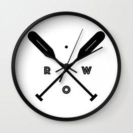 Rowing x Oars Wall Clock