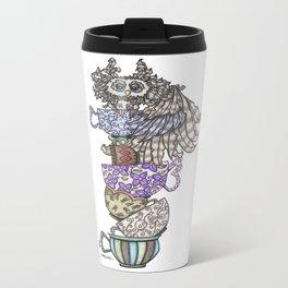 Owlice Wants Another Cup of Tea Metal Travel Mug
