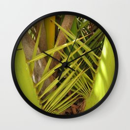 Palm tree leaves Wall Clock