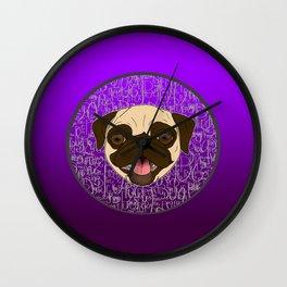 Fawn Pug Wall Clock