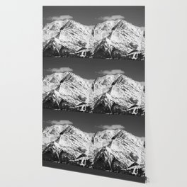 Mt. Blanc with cloud. Wallpaper