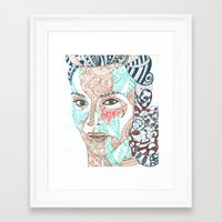 weird Framed Art Prints featuring Weird by EmmyLiey
