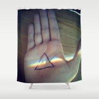 floyd Shower Curtains featuring Pink Floyd by Emma.B