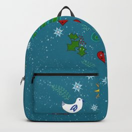 Christmas Winter Holidays art design Backpack
