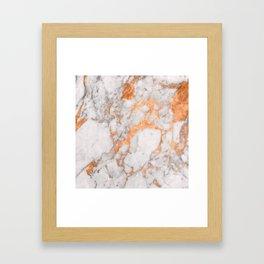 Copper Marble Framed Art Print