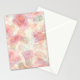 Hollyhock blossom Stationery Cards