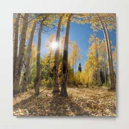Crested Butte Colorado Fall Colors Panorama - 3 by OLena Art Metal Print