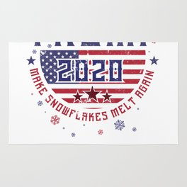 Re-Elect Trump for President. Keep America Great! Light Rug