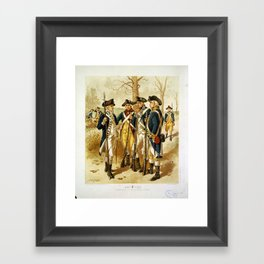 Infantry: Continental Army 1779-1783 by H.A. Ogden (1879) Framed Art Print