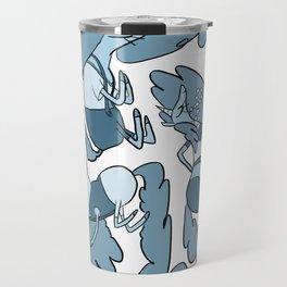 Fashion Po-Nays Blue Travel Mug