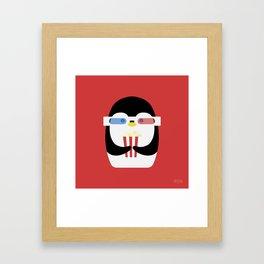 Penguin + Movie Time Framed Art Print