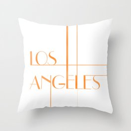 Los Angeles Deco Print Throw Pillow