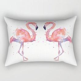 Flamingo Watercolor Rectangular Pillow