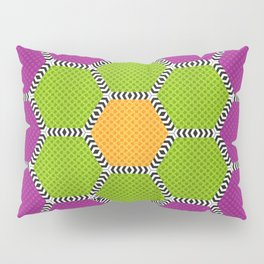 Vibrant honeycomb pattern with brilliant colours Pillow Sham