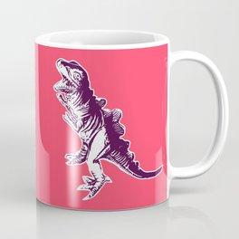 Dino Pop Art - T-Rex - Neon Pink & Dark Purple Coffee Mug