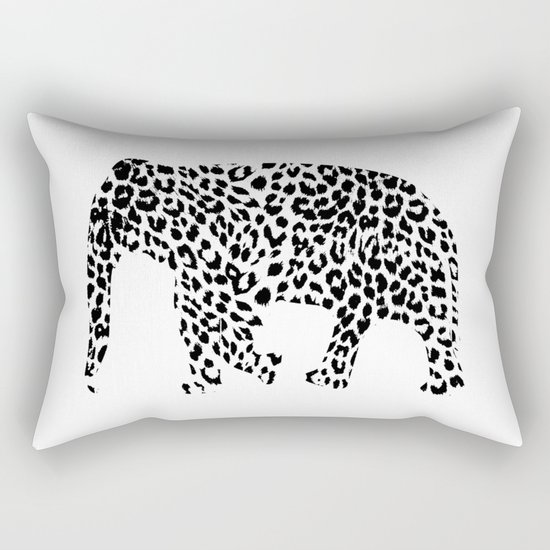 Elephant with leopard pattern Rectangular Pillow