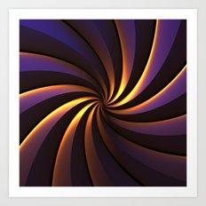 Purple/Gold One Art Print