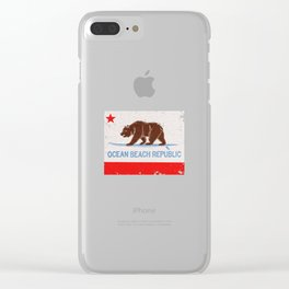 Ocean Beach Republic Vintage Clear iPhone Case