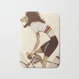 Vintage World Champion Bicycle, Bike, Bikes, Cycling Tour De France Bath Mat