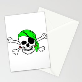 Halloween Pirate Skull Crossbones Bandana Eyepatch Stationery Cards