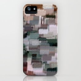 abstract colorful pastel drawing green brown tones iPhone Case