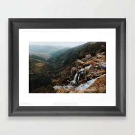 Autumn falls - Landscape and Nature Photography Framed Art Print