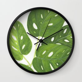 Monstera obliqua Wall Clock