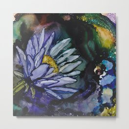 Soaking Lotus Metal Print