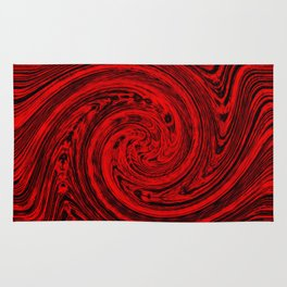 Hurricane wind in red and black Rug