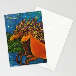 Wild Horses in the Moonlight Stationery Cards