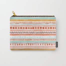 Boho Stripes - Watercolour pattern in rusts, turquoise & mustard. Nursery print Carry-All Pouch