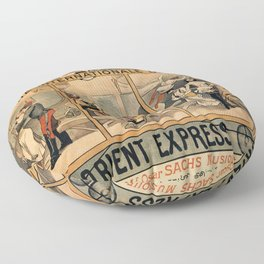 1896 Orient Express musical revue Paris Floor Pillow