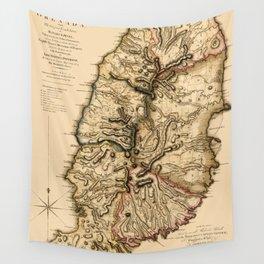 Map Of Grenada 1780 Wall Tapestry