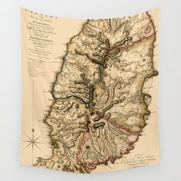 Map Of Grenada 1780 Wall Tapestry